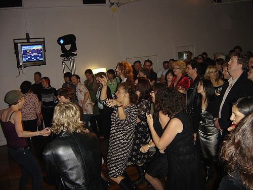 People dancing to the Black Assassins at the Jets Sports Club. photo: Paul